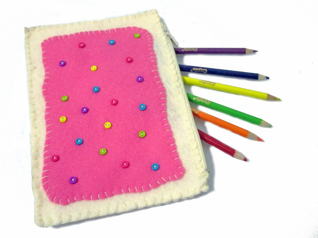 Sweeten up your back to school gear with this toaster pastry pencil pouch.