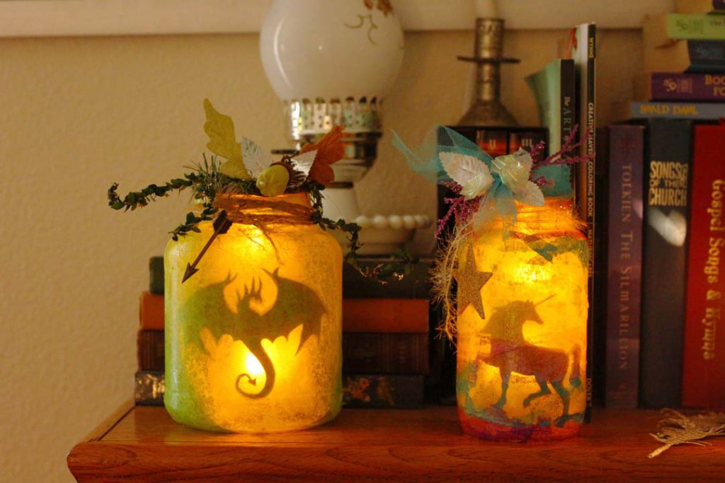 Make your own magical jar lantern with a fairytale spin.