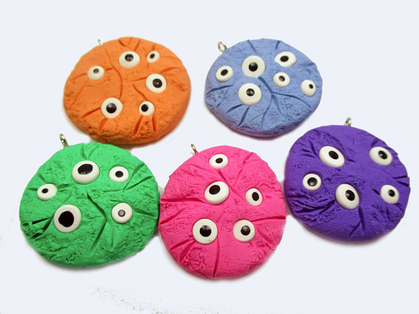 Monster Eye Cookie Charm Ornaments