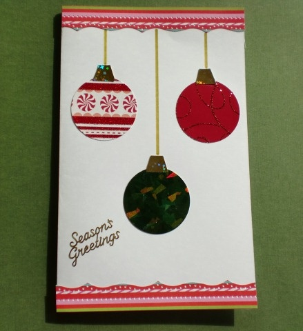 Christmas Ornament Card - Think Crafts by CreateForLess