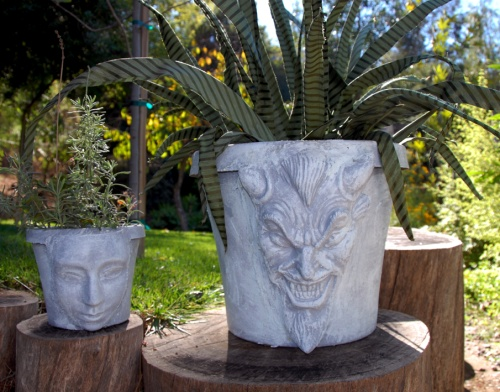 Cast Plaster Mask Planters - Think Crafts by CreateForLess