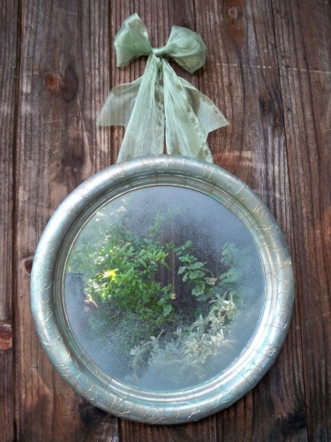 Silver Antiqued Mirror