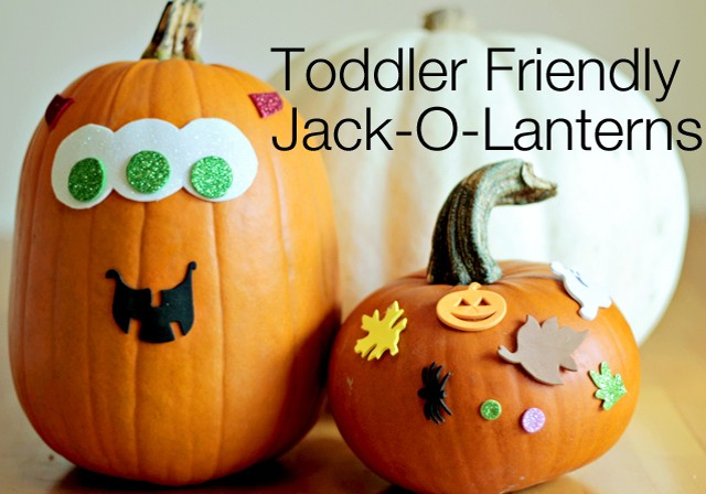 Speaking Of Toddler Friendly Pumpkins Foam Stickers Make A Fun Simple And Safe Way For The Little Ones In Your Life To Decorate Their Own