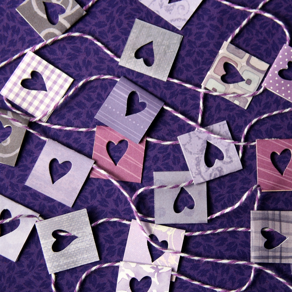 Punched Heart Garland at ThinkCrafts.com