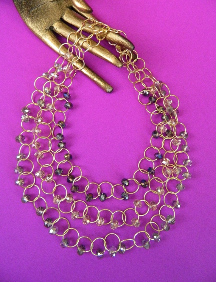 Mark Montano's Crystal Chain Link Necklace at ThinkCrafts.com