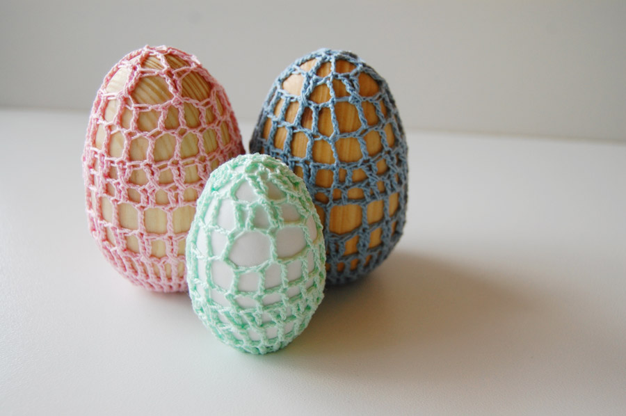 Crochet Eggs at ThinkCrafts.com