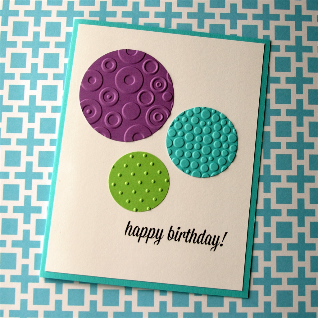 Embossed Birthday Card Think Crafts By Createforless
