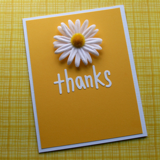 Daisy Thank You Note at ThinkCrafts.com