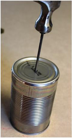 Hole in Can