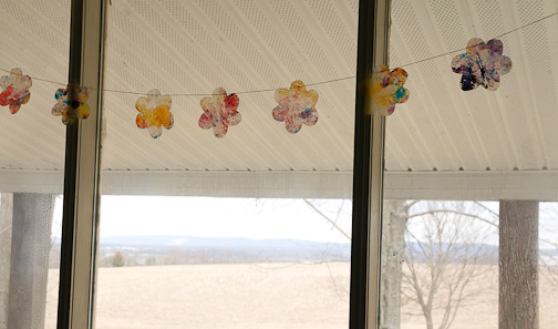 Stained Glass Garland at ThinkCrafts.com