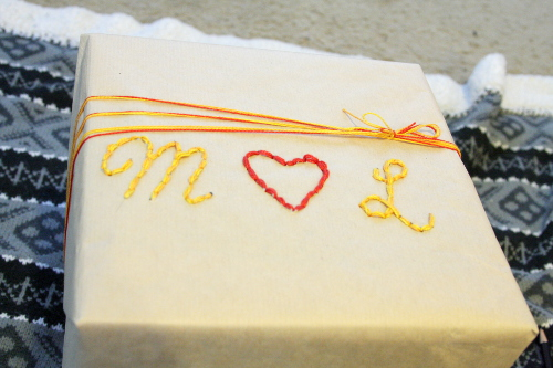 Create your own one of a kind gift wrap from ThinkCrafts.com
