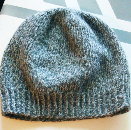 Knitting Pattern Beanie Hat Double Knitting : Easy Slouchy Unisex Beanie - Think Crafts by CreateForLess