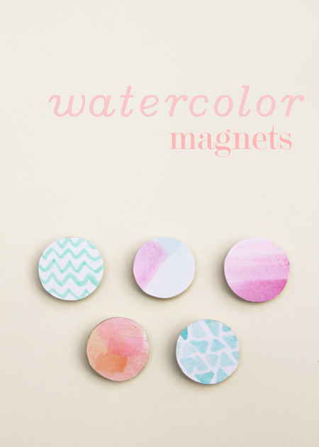 Watercolor Magnets - Think Crafts