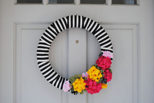 DIY Pool Noodle Wreath with Brave New Home