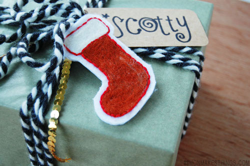 Needle Felted Holiday Gift Tags