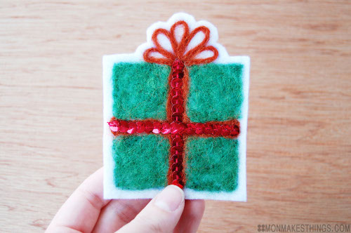 Felted Gift Tag