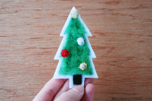 Holiday Felted Gift Tag