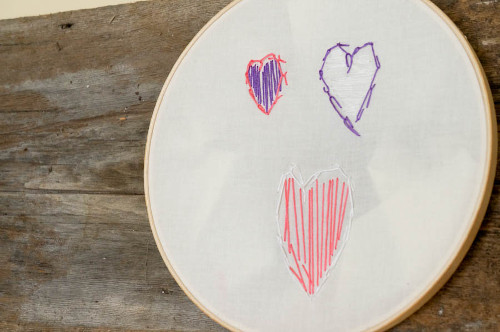Child Embroidery Wall Art