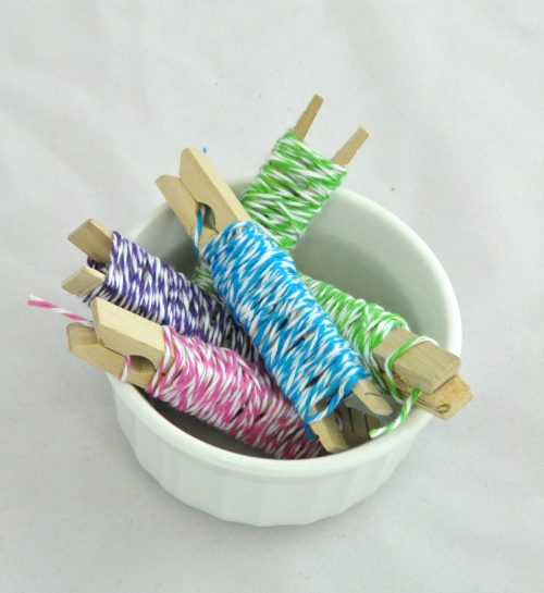 Store Embroidery Floss on Clothespins and other Craft Tips