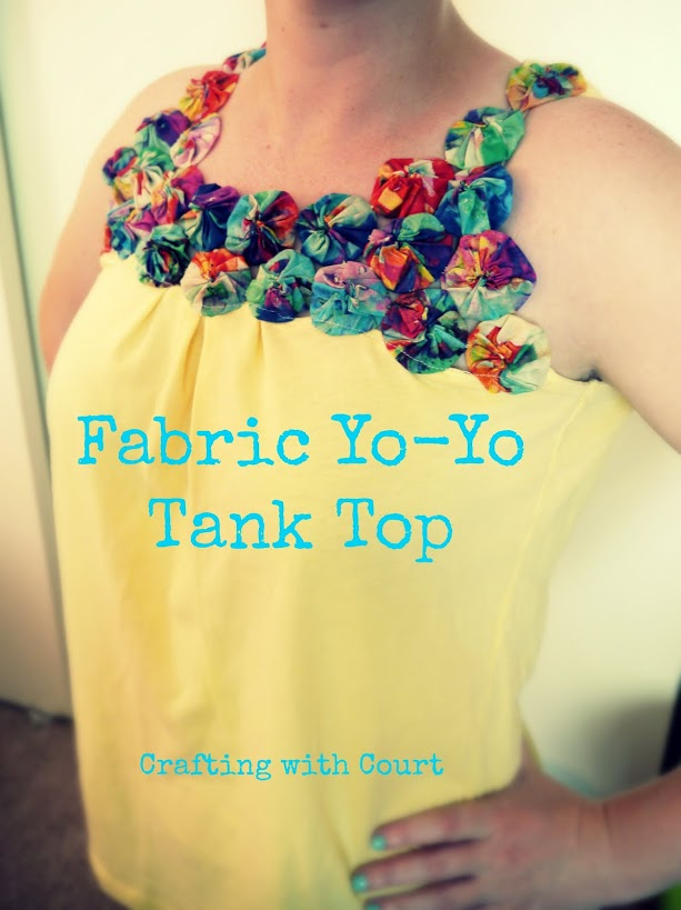 Fabric Yo-Yo Tank Top