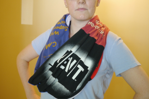 DIY Infinity Scarf from Old T-Shirts