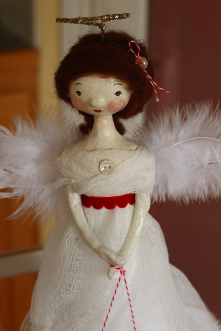 DIY Old-Fashioned Angel Tree Topper