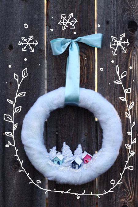 You won't want to take this adorable wreath down once the holidays are over!