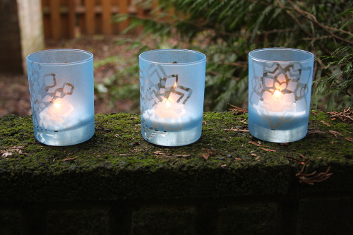 DIY Votive Holders with Snowflakes