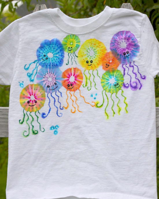 DIY Colorful Jellyfish Shirt