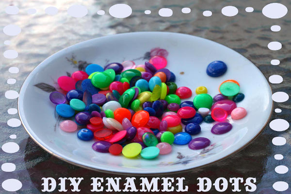 Make easy enamel dots for home decor, jewelry making, scrapbooking, and more!