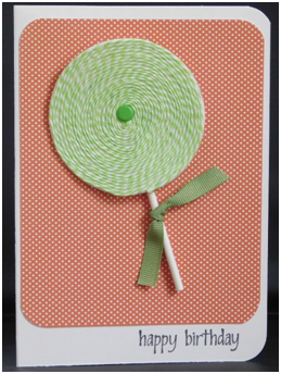 Lollipop Birthday Wishes Card