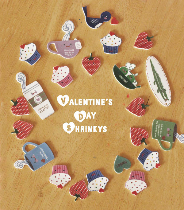 Valentine's Day inspired shrink plastic creations with a free printable!