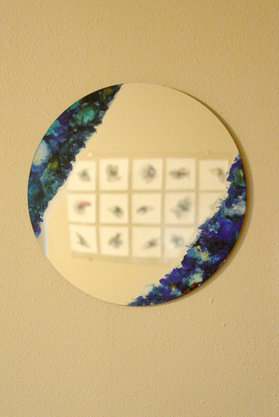 Alcohol Ink Mirror