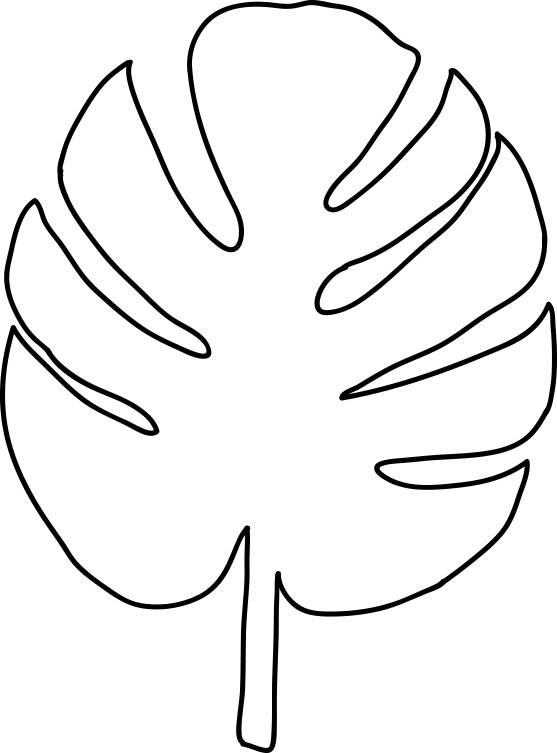 jungle leaf templates to cut out - diy tropical leaves art think crafts by createforless