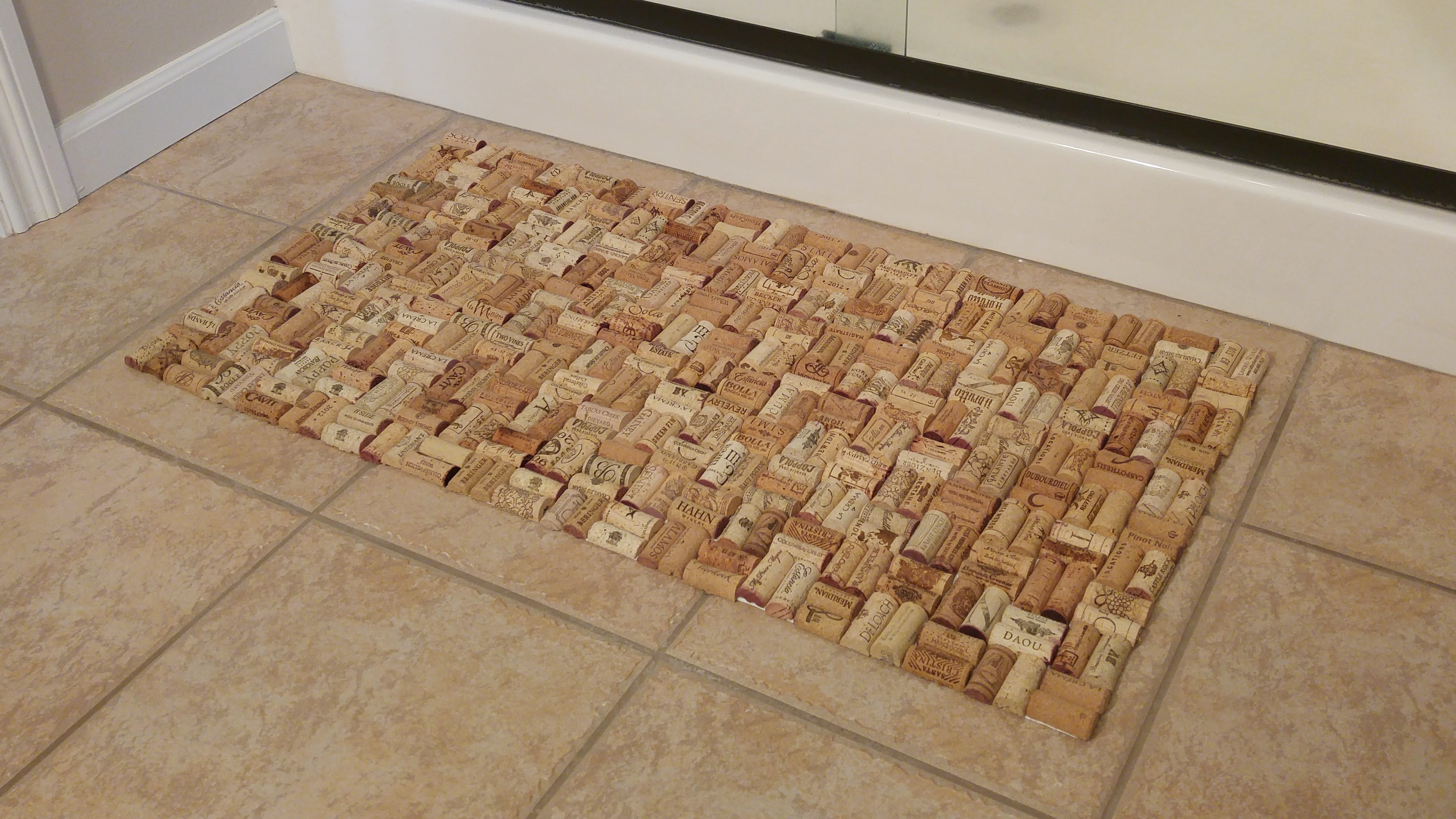 wine cork bath mat think crafts by createforless