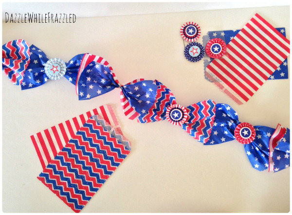 Craft some festive paper goodie bags into a cute seasonal garland for Memorial Day