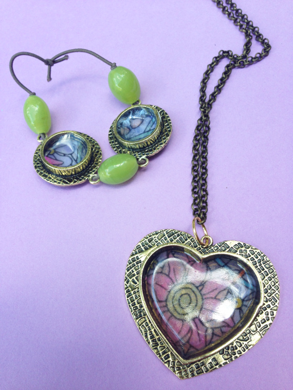 Turn your favorite coloring pages into fun jewelry in no time