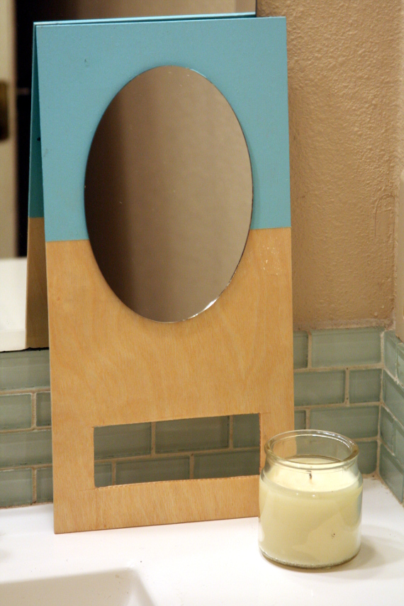 Easy tutorial for a color dipped wooden hand mirror