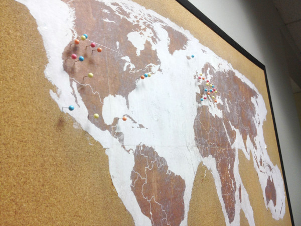 DIY a push pin map to keep track of your travels!