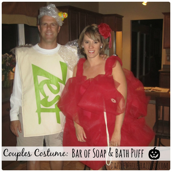 DIY a bar of soap costume in no time.