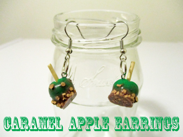 Make your own polymer clay earrings for fall!