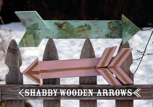 Decorate your own wooden arrow that can be customized to fit your style.