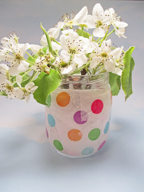 Day Or Night Tissue Paper Decorated Jars Think Crafts By