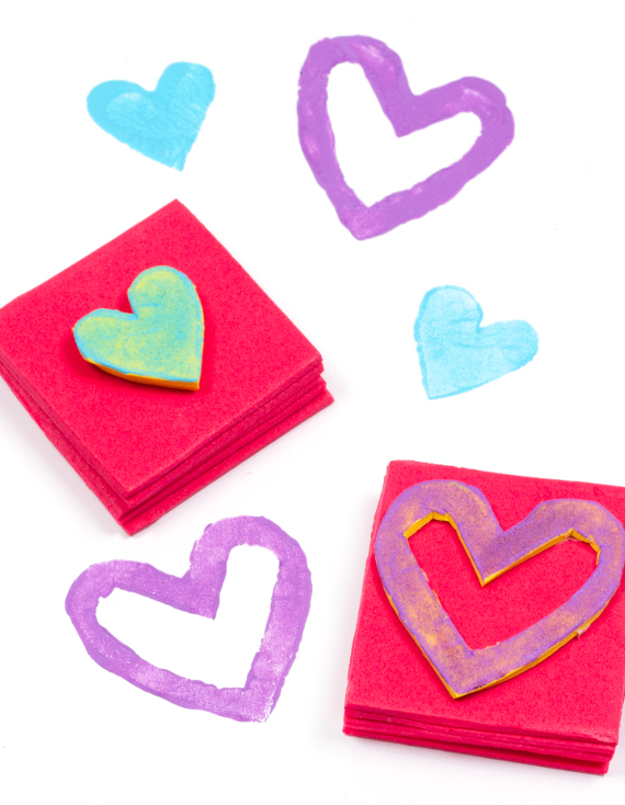 Make your own foam stamps to decorate cards, gift wrap, and more!