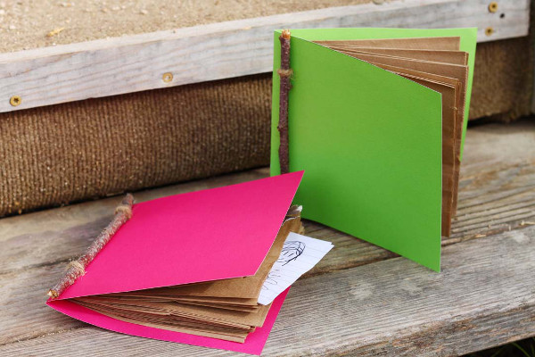 Make fun books to hold notes, items collected from nature walks, and more!