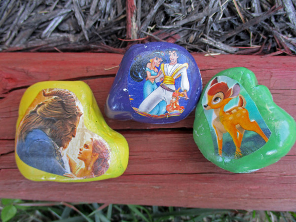 Put your unwanted mail to good use with a fun decorated rock craft.
