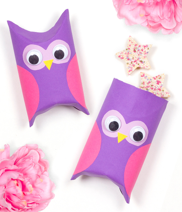Recycle and create these cute little owls to hold tiny gifts