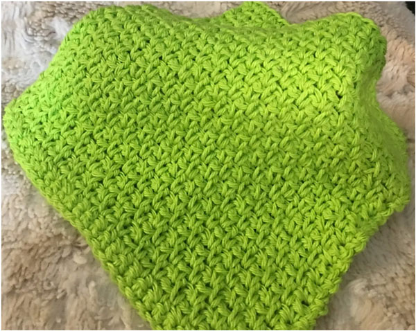 How to Make a Moss Stitch Washcloth - Think Crafts by