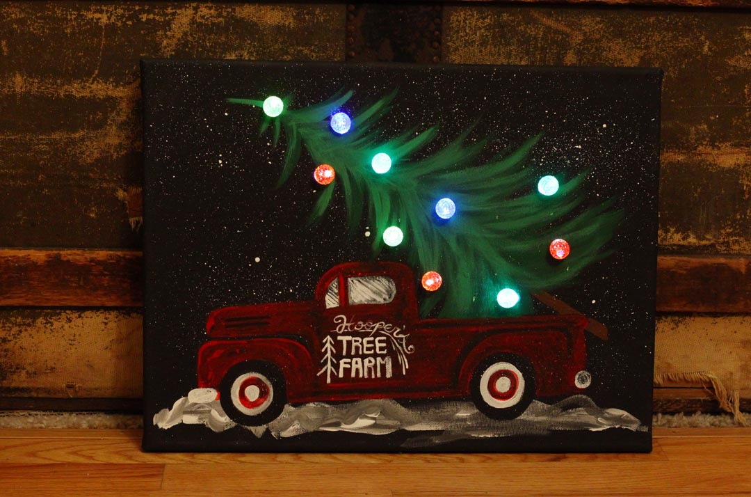 Old Truck With Christmas Tree Painting.Craft Paint Finding The Right Type Createforless