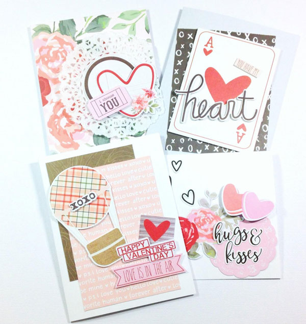 Card Ideas With The Simple Stories Kissing Booth Kit Think Crafts